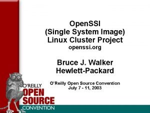 Open SSI Single System Image Linux Cluster Project
