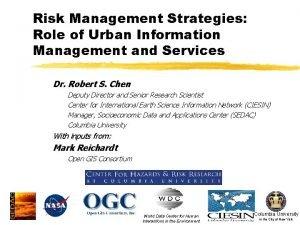 Risk Management Strategies Role of Urban Information Management