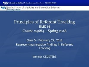 Principles of Referent Tracking BMI 714 Course 24684