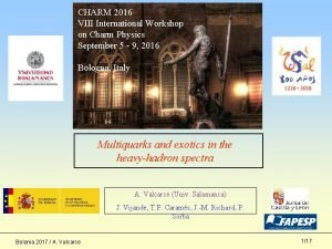 CHARM 2016 VIII International Workshop on Charm Physics