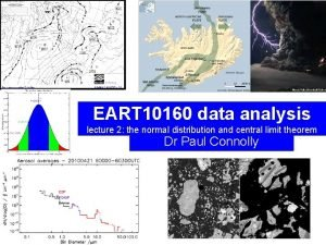 EART 10160 data analysis lecture 2 the normal