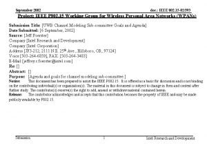doc IEEE 802 15 02393 September 2002 Project