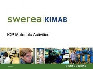 ICP Materials Activities 9292020 ICP Materials 2010 work