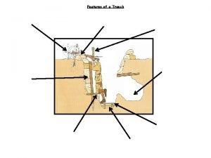 Features of a Trench Features of a Trench