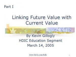 Part I Linking Future Value with Current Value