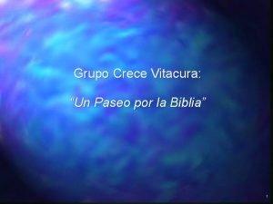 Grupo Crece Vitacura Un Paseo por la Biblia
