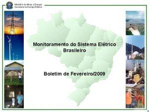 Ministrio de Minas e Energia Secretaria de Energia