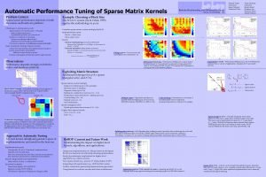 Automatic Performance Tuning of Sparse Matrix Kernels Problem