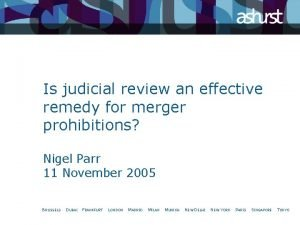 Is judicial review an effective remedy for merger
