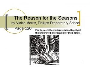 The Reason for the Seasons by Vickie Morris