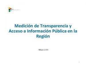 Medicin de Transparencia y Acceso a Informacin Pblica