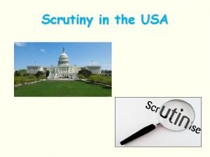 Scrutiny in the USA Government Scrutiny Like the