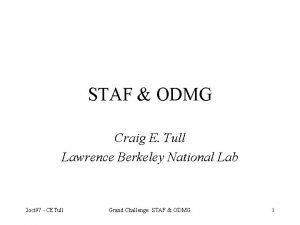 STAF ODMG Craig E Tull Lawrence Berkeley National