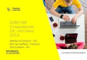 DCATAP Vlaanderen 26 oktober 2018 Mathias De Schrijver