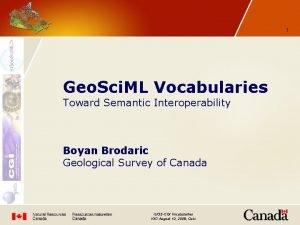 1 Geo Sci ML Vocabularies Toward Semantic Interoperability