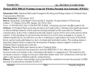 November 2012 doc IEEE 802 15 15 12
