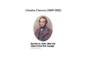 Darwins Idea Charles Darwin Big 1809 1882 Darwin