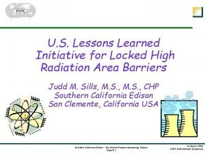 U S Lessons Learned Initiative for Locked High
