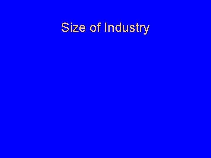 Size of Industry Size of Industry Size of
