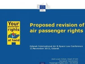 Proposed revision of air passenger rights Gdansk International