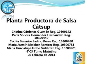 Planta Productora de Salsa Ctsup Cristina Crdenas Guzmn