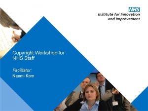 Copyright Workshop for NHS Staff Facilitator Naomi Korn