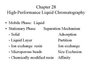 Chapter 28 HighPerformance Liquid Chromatography Mobile Phase Liquid