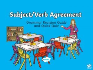 SubjectVerb Agreement The Rules Singular The subject and