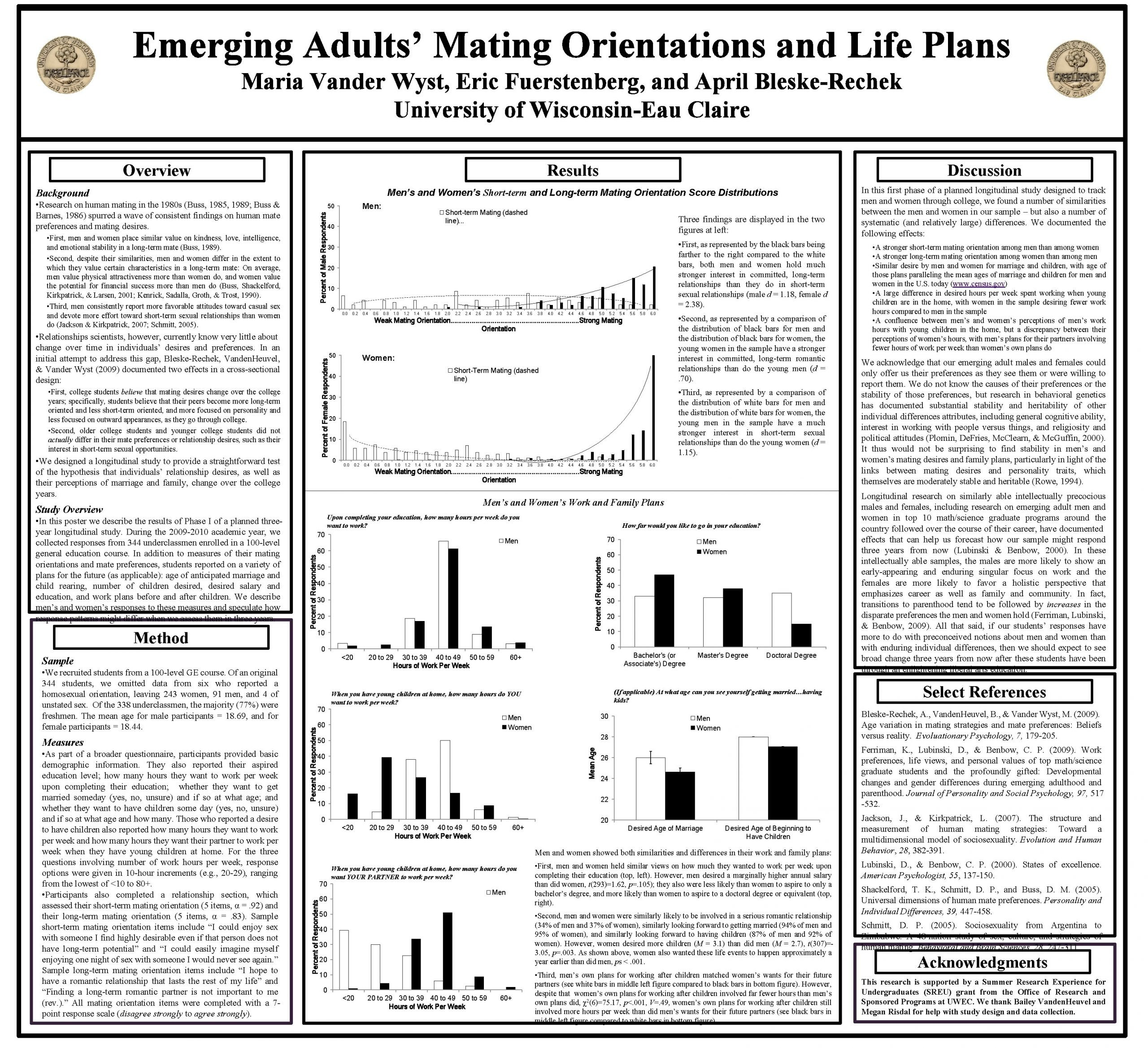Emerging Adults Mating Orientations and Life Plans Maria