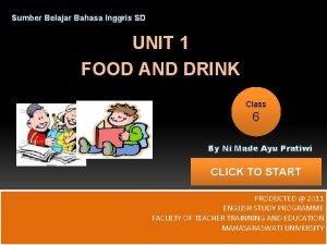 Sumber Belajar Bahasa Inggris SD UNIT 1 FOOD