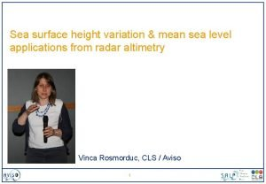 Sea surface height variation mean sea level applications