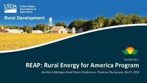 Natalie Garr REAP Rural Energy for America Program