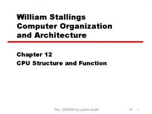 William Stallings Computer Organization and Architecture Chapter 12