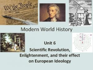 Modern World History Unit 6 Scientific Revolution Enlightenment