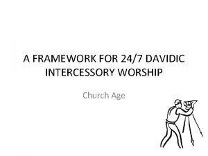 A FRAMEWORK FOR 247 DAVIDIC INTERCESSORY WORSHIP Church