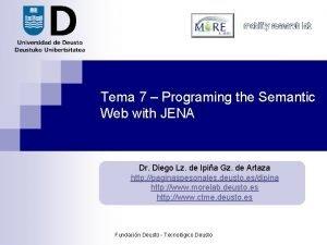Tema 7 Programing the Semantic Web with JENA