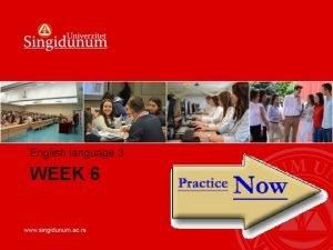 English language 3 WEEK 6 WEEK 6 Test