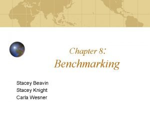 Chapter 8 Benchmarking Stacey Beavin Stacey Knight Carla