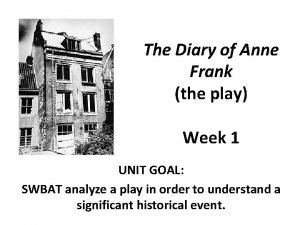 The Diary of Anne Frank the play Week