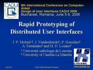 6 th International Conference on Computer Aided Design