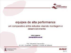 equipes de alta performance um comparativo entre estudos