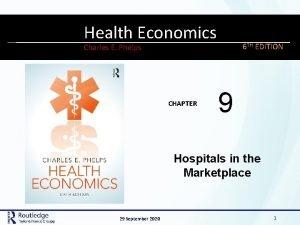 MODERN Health LABOR Economics ECONOMICS 12 6 TH