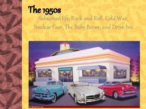 The 1950 s Suburban life Rock and Roll
