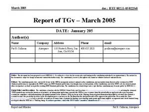March 2005 doc IEEE 802 11 050225 r