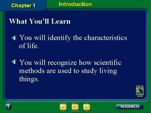 What Youll Learn You will identify the characteristics