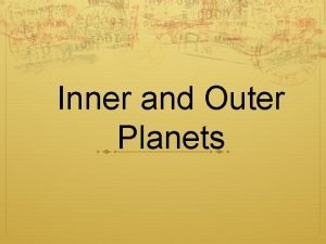 Inner and Outer Planets Question of the Day
