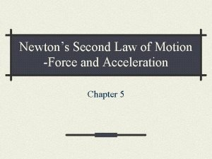 Newtons Second Law of Motion Force and Acceleration