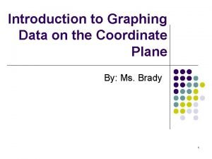 Introduction to Graphing Data on the Coordinate Plane