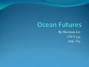 By Sherman Lai CPCS 533 Info Viz Introduction