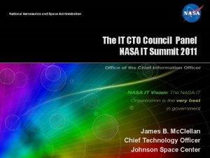 The IT CTO Council Panel NASA IT Summit